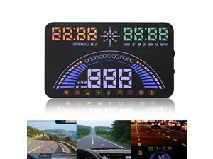 BANGWEIER 5.8 inch Big Screen S7 Car Speed Alarm Head Up Display for Safty Driving