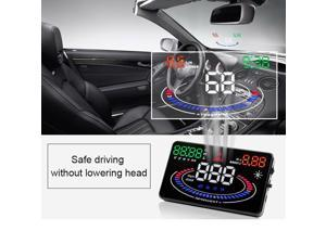 BANGWEIER 5.5 inch HD Screen 2D Visual Effect Car Speed Alarm Head Up Display Multi Color Design