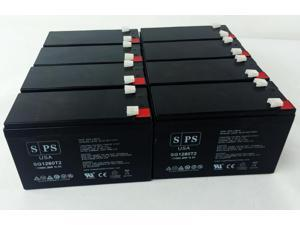 12v 8Ah Falcon SG2K-2TXI UPS Replacement Battery (8  PACK) SPS BRAND