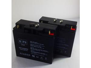 12v 22Ah TaoTao ATE-501  Scooter ( upgrade from 12V 18Ah) Replacement Battery (2 PACK) SPS BRAND