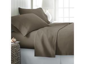 Merit Linens Luxury Double Brushed 4 Piece Bed Sheet Set - Queen Taupe