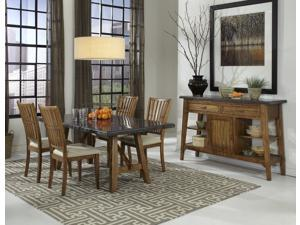 Janes Gallerie Lucca Reclaimed Bluestone 5-piece Dining Set