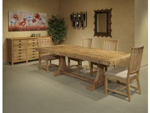 Janes Gallerie Sebastian Weathered Acacia 7-piece Dining Set