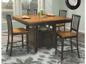 Janes Gallerie Arlington Black & Java 5-piece Island Gathering Set