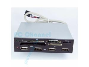 USB 2.0 3.5 IN INTERNAL CARD READER WITH 4 PORT HUB POWER SD SDHC MMS XD M2 CF-Best Market