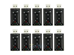 10 X New External USB 2.0 Virtual 7.1-Channel CH 3D Audio Sound Card Adapter - Best Market