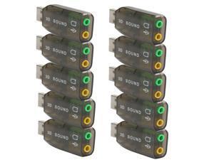 10X USB External 5.1 Channel 3D Mic Speaker Virtual Audio PC Sound Card Adapter - Best Market