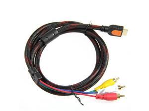 5Ft 1.5m HDMI Male to 3 RCA Video Audio AV Cable Lead 1080P For HDTV DVD
