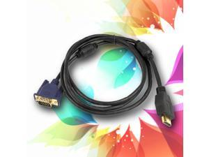 HDMI Gold Male to VGA HD-15 Male Cable Cord 6FT 1.8M 1080P Blue