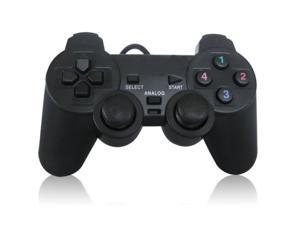 Black USB Dual Vibration PC Computer Wired Gamepad Game Controller Joystick