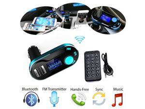 Bluetooth Car Kit MP3 Player FM Wireless Transmitter SD LCD Dual USB Car Charger