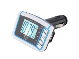 "1.44"" LCD Wireless FM Transmitter Car MP3 Player SD TF Card USB Drive Remote SU"