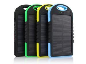 16000mAh Portable Waterproof Solar Charger Dual USB External Battery Power Bank Yellow