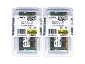 Atech 2GB Kit Lot 2x 1GB PC2-5300 5300 DDR2 DDR-2 667mhz 667 Laptop Memory RAM