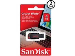 Lot of 2 Sandisk Cruzer Blade 4GB USB 2.0 Memory Flash Drive SDCZ50-004G Pack