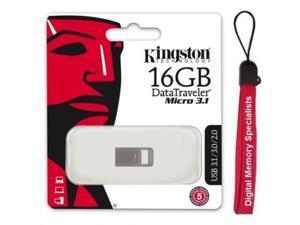 Kingston 16GB 16G DataTraveler Micro 3.1 USB 3.0 Pen Drive DTMC3/16GB + Lanyard