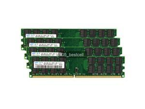 SAMSUNG 16GB 4X4GB DDR2-800MHz PC2-6400 PC6400 240PIN for AMD CPU Motherboard (Not Support Any Intel Motherboard)