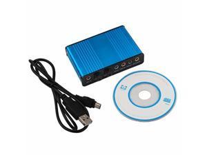 USB 6 Channel 5.1 External Optical Audio Sound Card Adapter Laptop Notebook