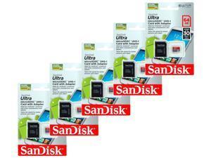 Lot 5 SanDisk Ultra Class10 64GB microSD micro SDHC UHS-I TF Flash Memory Card
