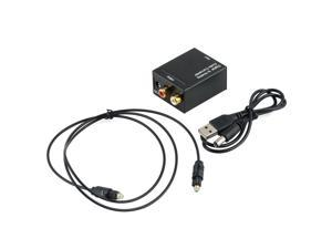 Optical Coaxial Toslink Signal to Analog Audio L/R RCA Digital Converter Adapter