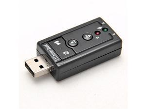 Channel Virtual 7.1 effect Audio Sound Card USB 2.0 2.1 Adapter 3D Laptop