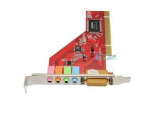PCI 4 Channel C-Media 3D Audio Internal PC Sound Card for VISTA XP Win7 32-bit