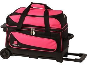 Ebonite Transport II Black/Pink 2 Ball Roller Bowling Bag