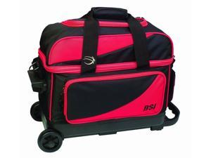 BSI Double Ball Roller Bowling Bag Black/Red