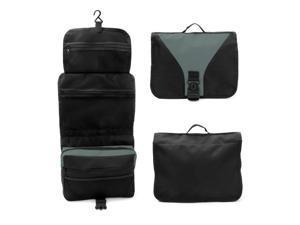 Travel Organizer Accessory Toiletry Cosmetics Medicine MakeUp Shaving Kit Bag Black/Gray