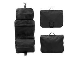 Travel Organizer Accessory Toiletry Cosmetics Medicine MakeUp Shaving Kit Bag Black