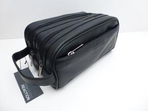 KENNETH COLE REACTION Men's Black Toiletry Case *Shave Kit *Travel Dopp Bag