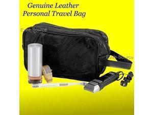 Mens Genuine Leather Toiletry Shaving Travel Bag