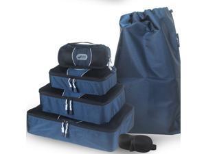 Packing Cubes for Luggage-Set of 4 Travel Organizers. Bonus Laundry Bag