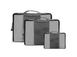 Gray Travel Luggage Organizer Bags Packing Cubes Organizers - 3pc Set