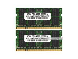 2GB 2X 1GB PC2-4200 DDR2-533 533Mhz 200pin DDR2 Sodimm Laptop RAM Memory