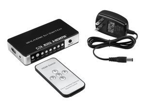A-tech Sl5102-4k Is a 5 Port 1080p 5x1 Mhl/hdmi Switch Switcher .This Audio Video Switch Selector with Ir Remote Control and Power Adapter .The Hdmi Switch Hub Support 3d 4k X 2k for Hdtv DVD (5 Input