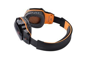 TinkSky B3505 Wireless NFC Bluetooth Stereo Gaming Headphone Headset with Mic for iPhone /iPad /Samsung /HTC /Cellphones /Tablets /PC /MP3 (Black+Orange)
