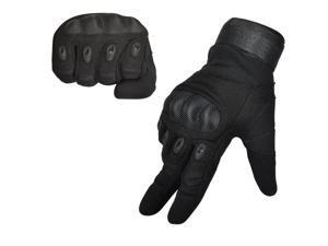 TinkSky Pair of Men's Adjustable Anti-slip Full Finger Gloves Cycling Gloves Outdoor Sports Gloves