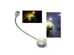 TinkSky AC 85-265V 3W 360-degree Flexible Arm LED Wall Light LED Reading Light Bedside Lamp with Switch (Warm White)