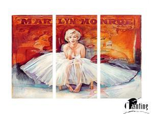 Sweety Decor Marilyn Monroe Colorful Photos Modern Wall Decoration Art Prints on Canvas 3pcs/set for Home and Office