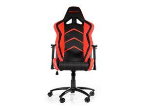AKRacing Racing Style Gaming Chair with High Backrest, Recliner, Swivel, Tilt, Rocker and Seat Height Adjustment Mechanisms - Red PU Leather