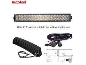 autofeel technology co automotive lighting newegg com autofeel curved 21 5 120w led light bar wiring harness fog lights driving lights ip