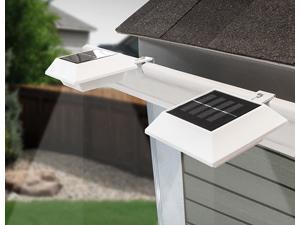 Touch Of ECO 2-Pack Solar Gutter Light Square White