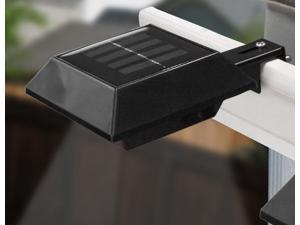 Touch Of ECO 2-Pack Solar Gutter Light Square Black