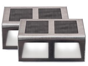 Touch Of ECO SUNSTEP Solar Step, Deck & Patio Light - 2 Pack - Medium