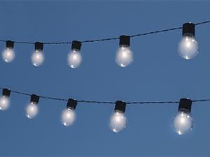 NITEBULBS Solar String Patio Edison Bulb Light