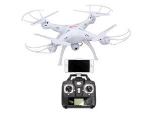 Syma X5SW Explorers-II 2.4Ghz 50M FPV RC Drone Quadcopter Helicopter Toy 0.3MP Wifi Camera  ( White )