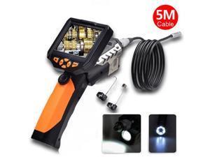 "Blueskysea Longer 5 Meters Dia 8.2mm Tube Snake Camera Cam Endoscope Inspection Borescope Video DVR 3.5"" Monitor 6 Leds Night Vision Waterproof w/ Hook Magnet Mirror"