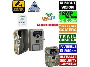 Sg-880v 2 Lcd Time Lapse Ip66 940nm Hd 12mp 1080P GPS 2 /3/ 4X Digital Zoom Support WIFI SD Card Infrared Trail Hunting Scouting Trail Camera Ir Led Night  (Add 16gb Wifi Sd Card)