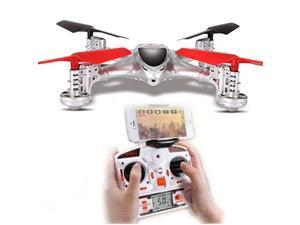 MJX X300C 2.4G 4CH 6-Axis RC Quadcoptepr FPV Real-time Video Drone Headless Mode One Key Return 3D Flips WIth 1MP Camera Throttle Limit Mode (Silver, Left Hand Throttle)